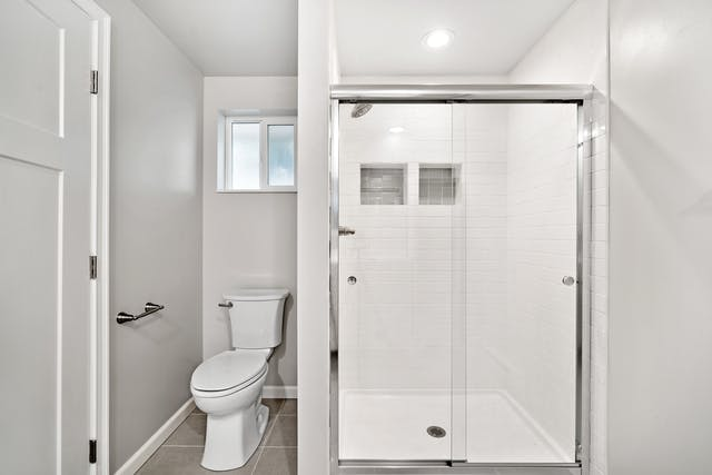 Northgate addition toilet and shower