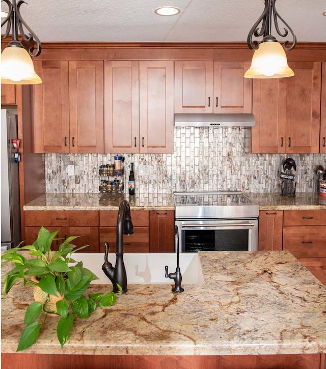 Glendale kitchen remodel island