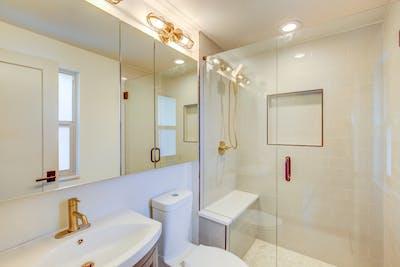 Hampden South gold bathroom
