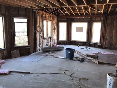 Sunnyside home remodel during construction