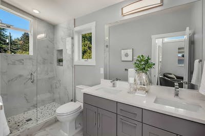 Ravenna new construction master bathroom