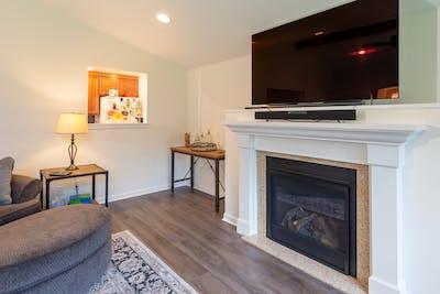 Fall City addition fireplace
