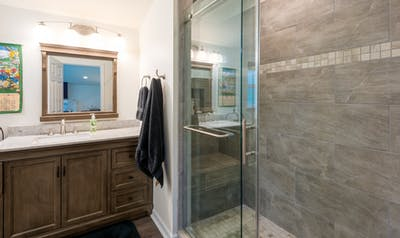 Fall City bathroom addition vanity