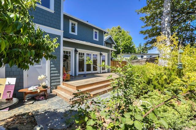 Burlingame addition  exterior deck