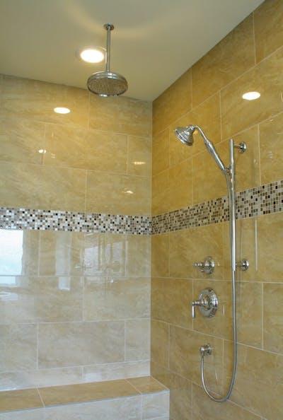 Medina new construction master shower