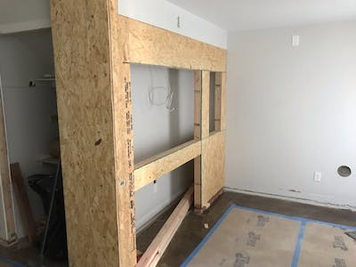 Denver Retail Store Remodel - framing the display case