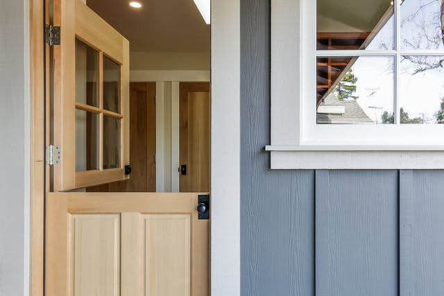 Portola Valley Addition - Dutch door to mudroom