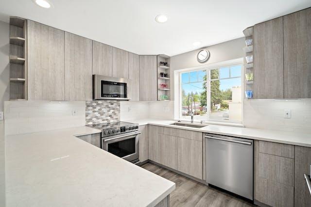 Edmonds townhome kitchen remodel countertops