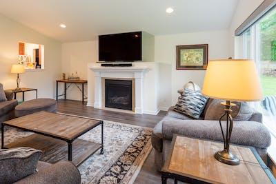 Fall City addition living room