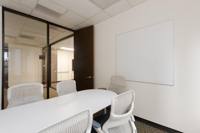 Smaller office hallway view