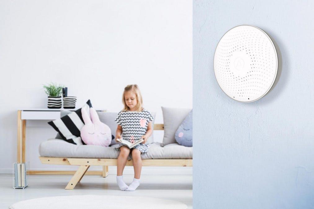 Airthings Wave mäter radon i hemmet.