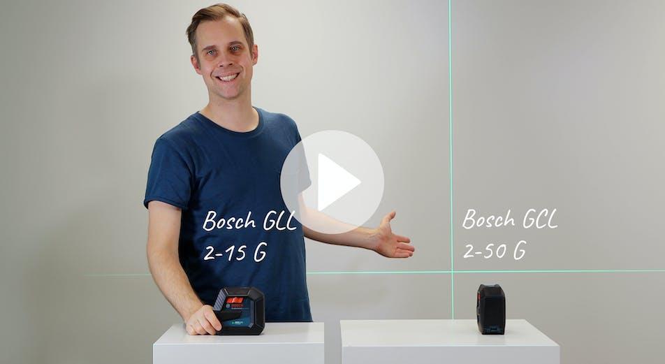 Nyhet: Nya korslasrar från Bosch: Bosch GLL 2-15 G och GCL 2-50 G