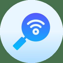 Ícone lupa e Wi-Fi