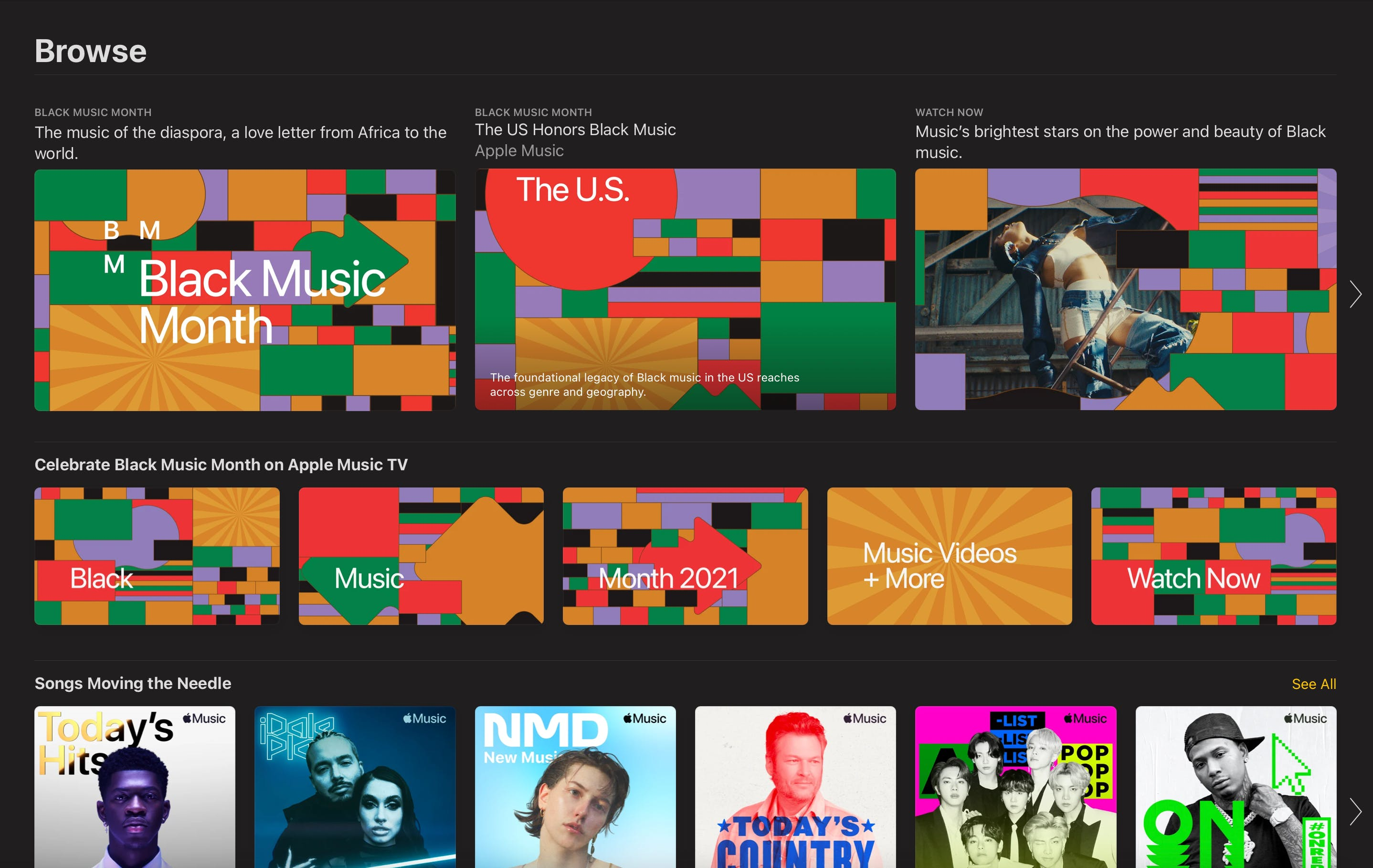 applemusic.com Black Music Month browse take over