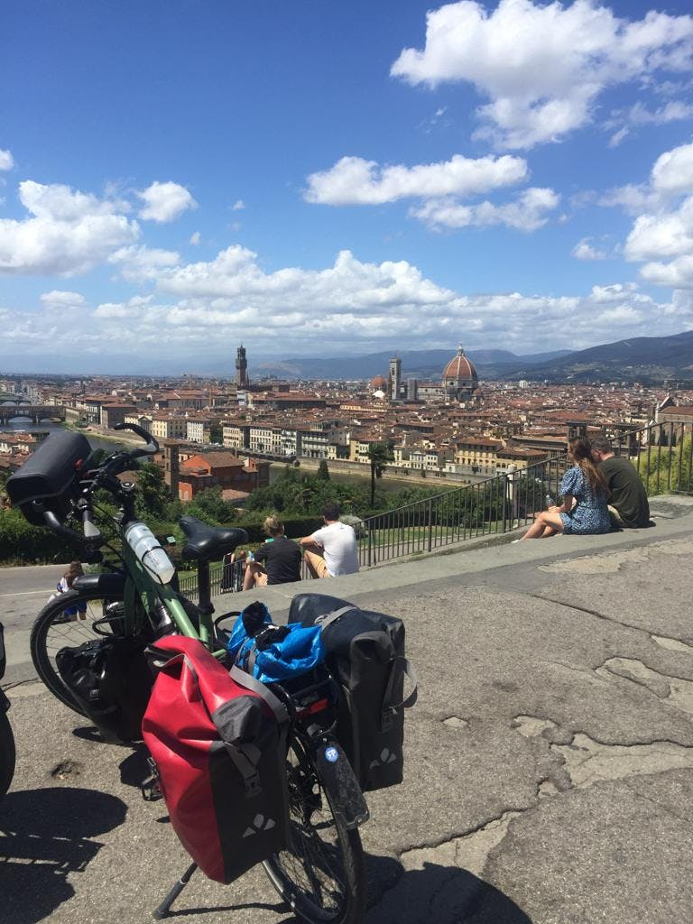 Faire du vélo à Florence