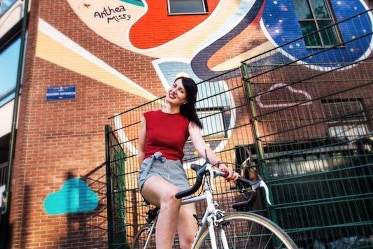 Anthea Missy - Women Bike the city - photo by Daniel Garcia Costoya