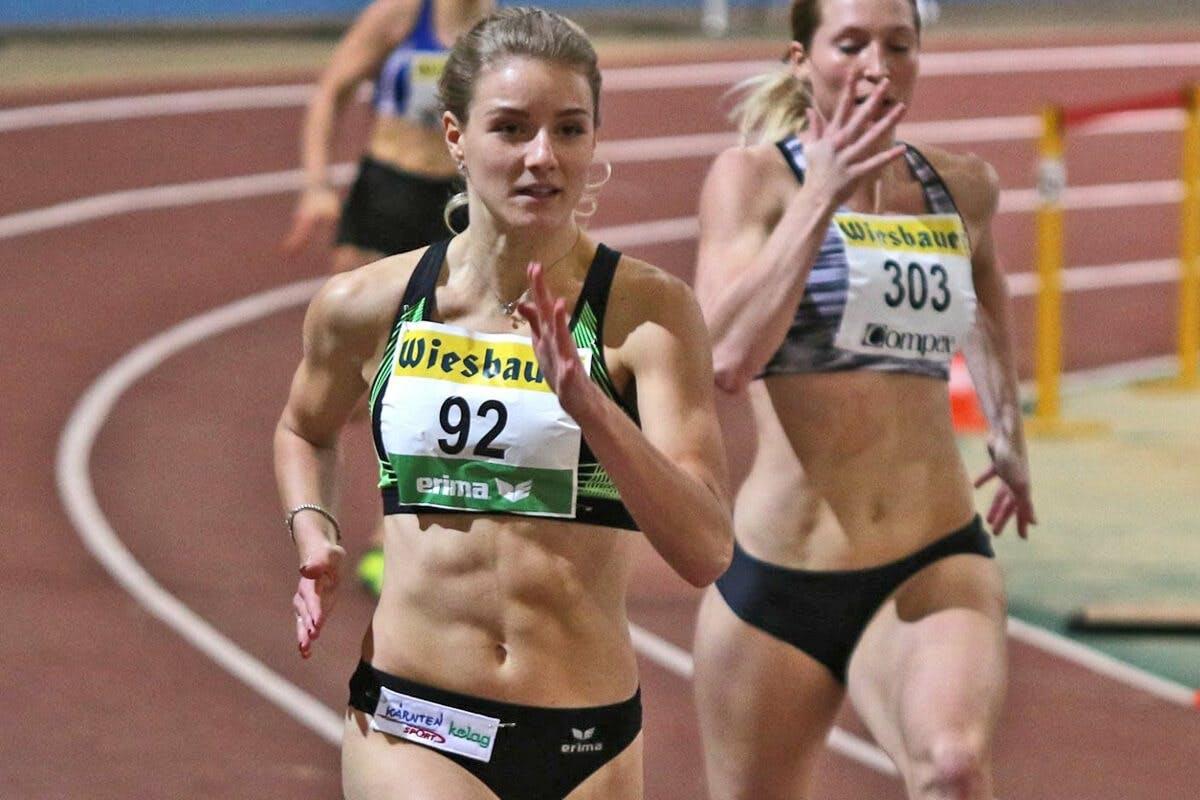 Pure Athletin Carina Pölzl beim Sprint