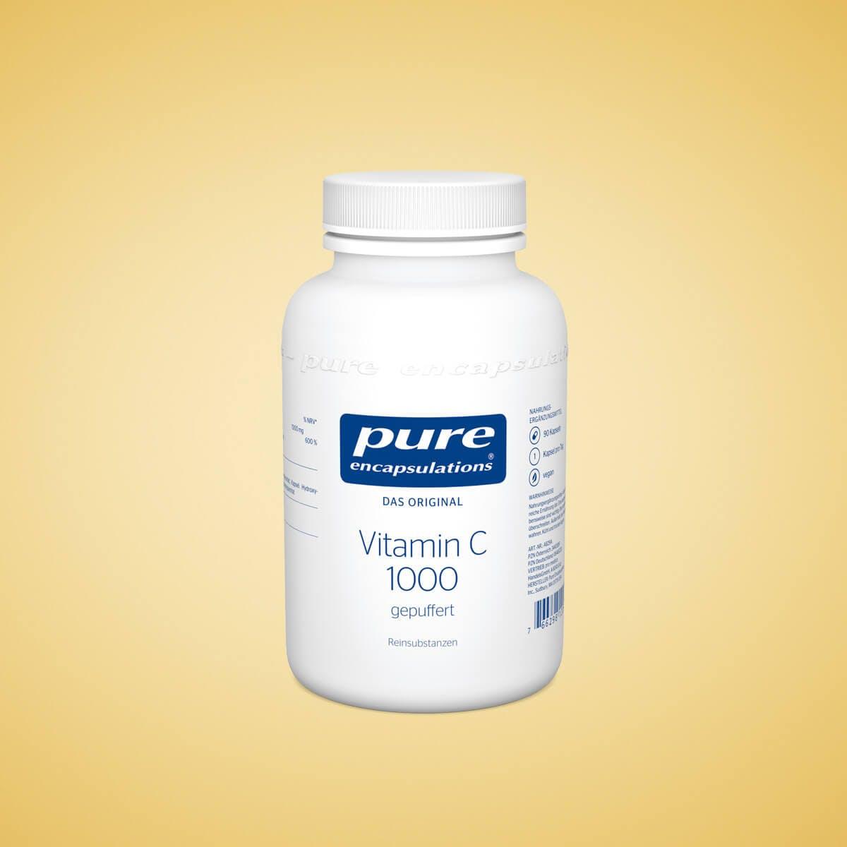 Vitamin C - Der Allrounder unter den Vitaminen - Vitamin C 1000 gepuffert - ideal für sensible Personen