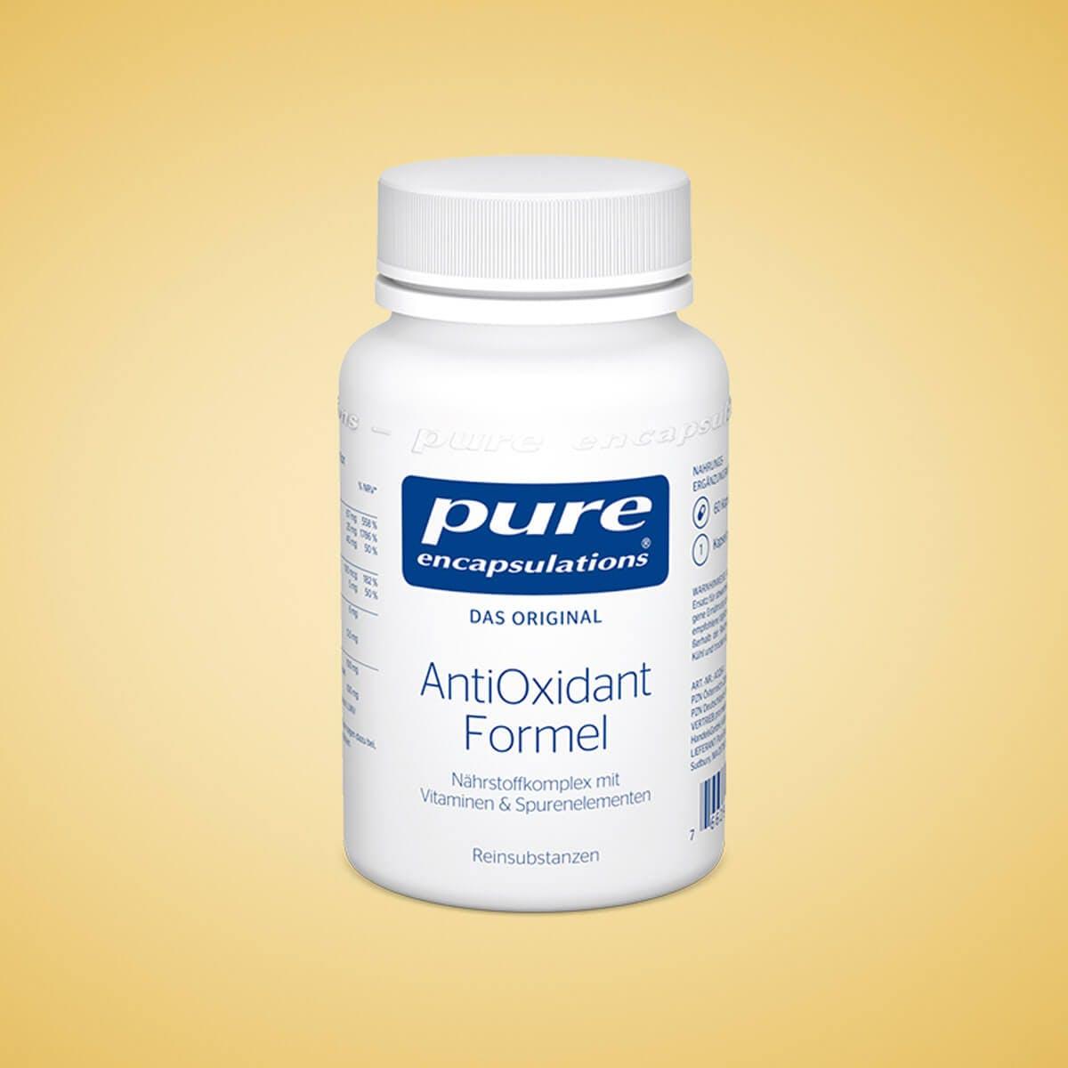 Die AntiOxidant Formel vereint wichtige Antioxidantien
