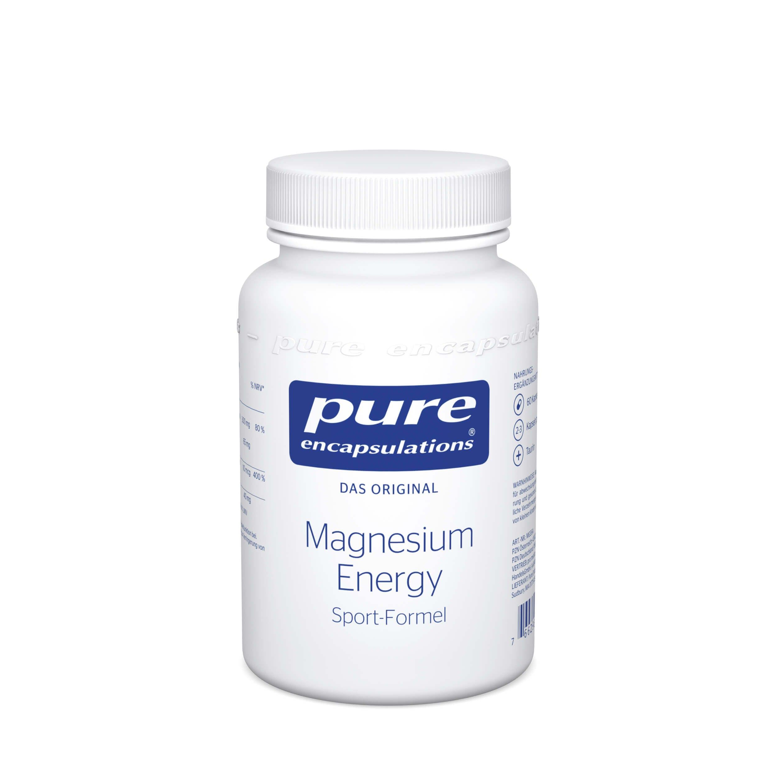 Magnesium Energy von Pure Encapsulations®: Für die Muskeln und wenn Sportler wieder ein Extra an Energie und Magnesium benötigen.