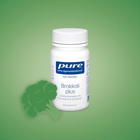 Brokkoli plus Dreifachkomplex mit Resveratrol und Glutathion