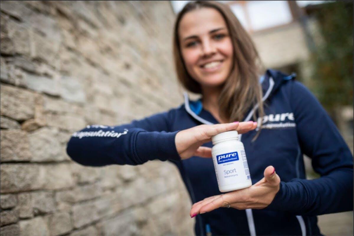 Anna Spielmann und die Sport Basisversorgung von Pure Encapsulations®