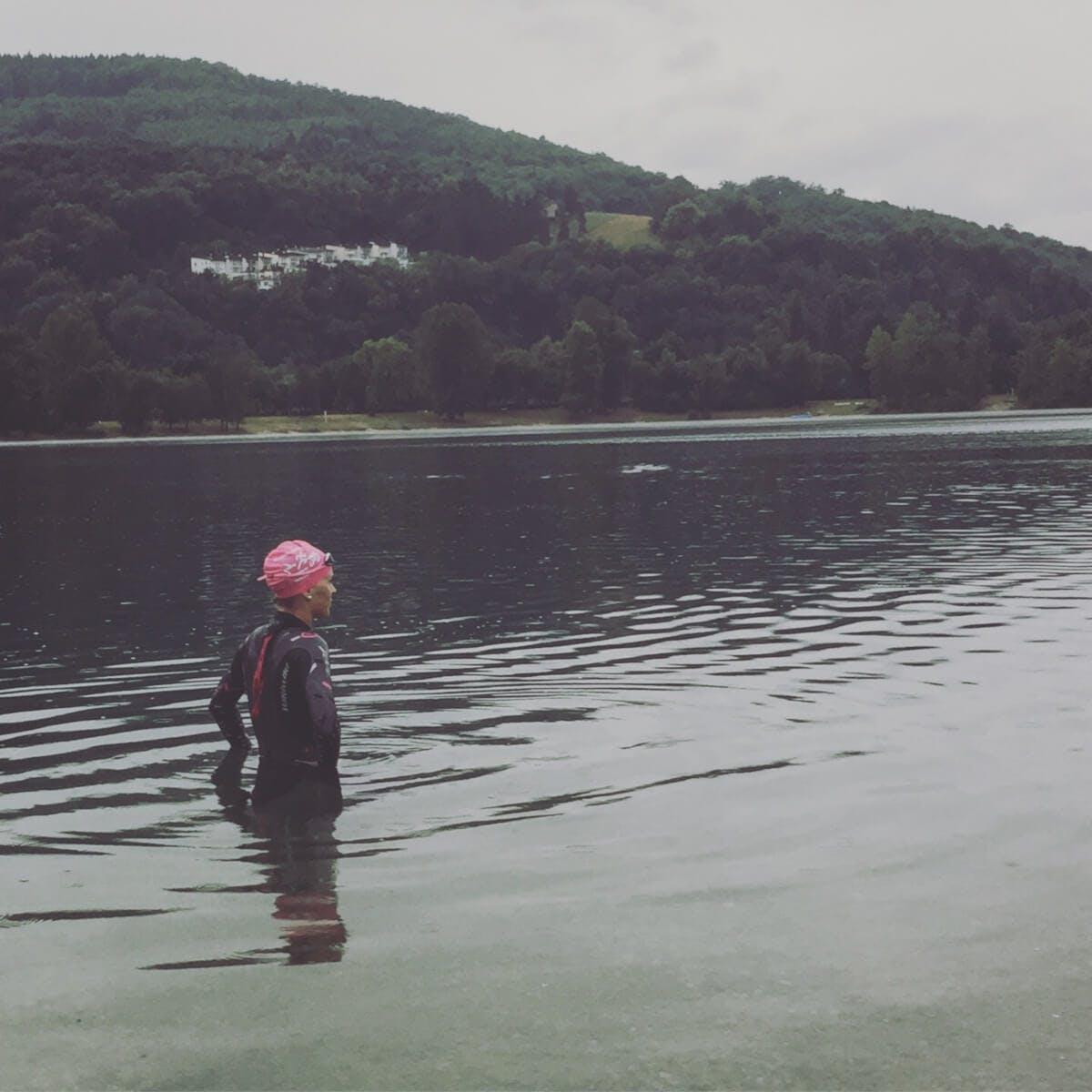 Stefanie Emler im Wasser