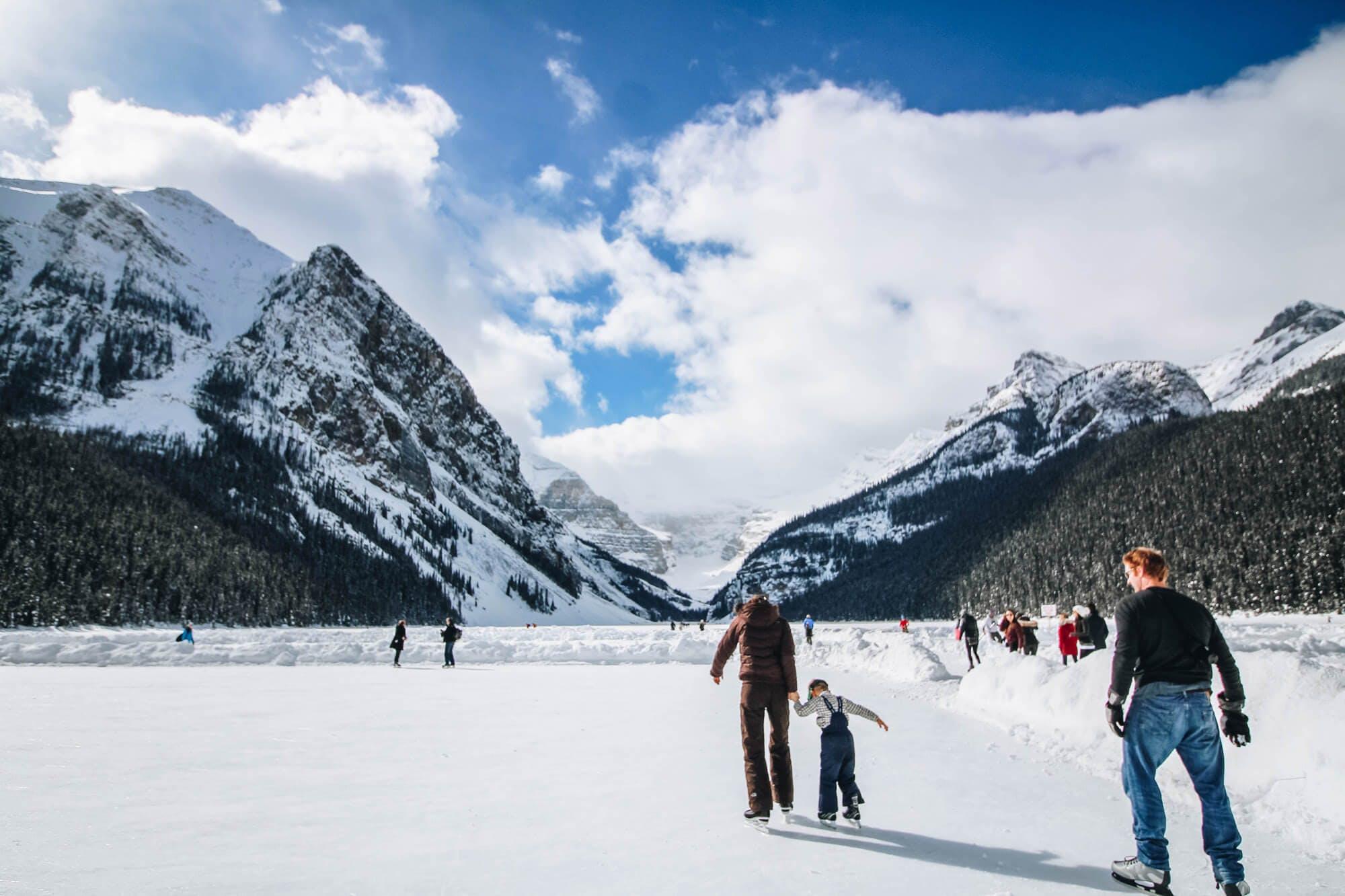 Eislaufen Familie