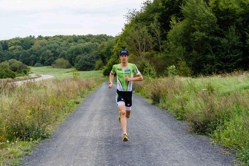 Pure Athlet Markus Fachbach bei seinem Training für den Ironman Hawaii.