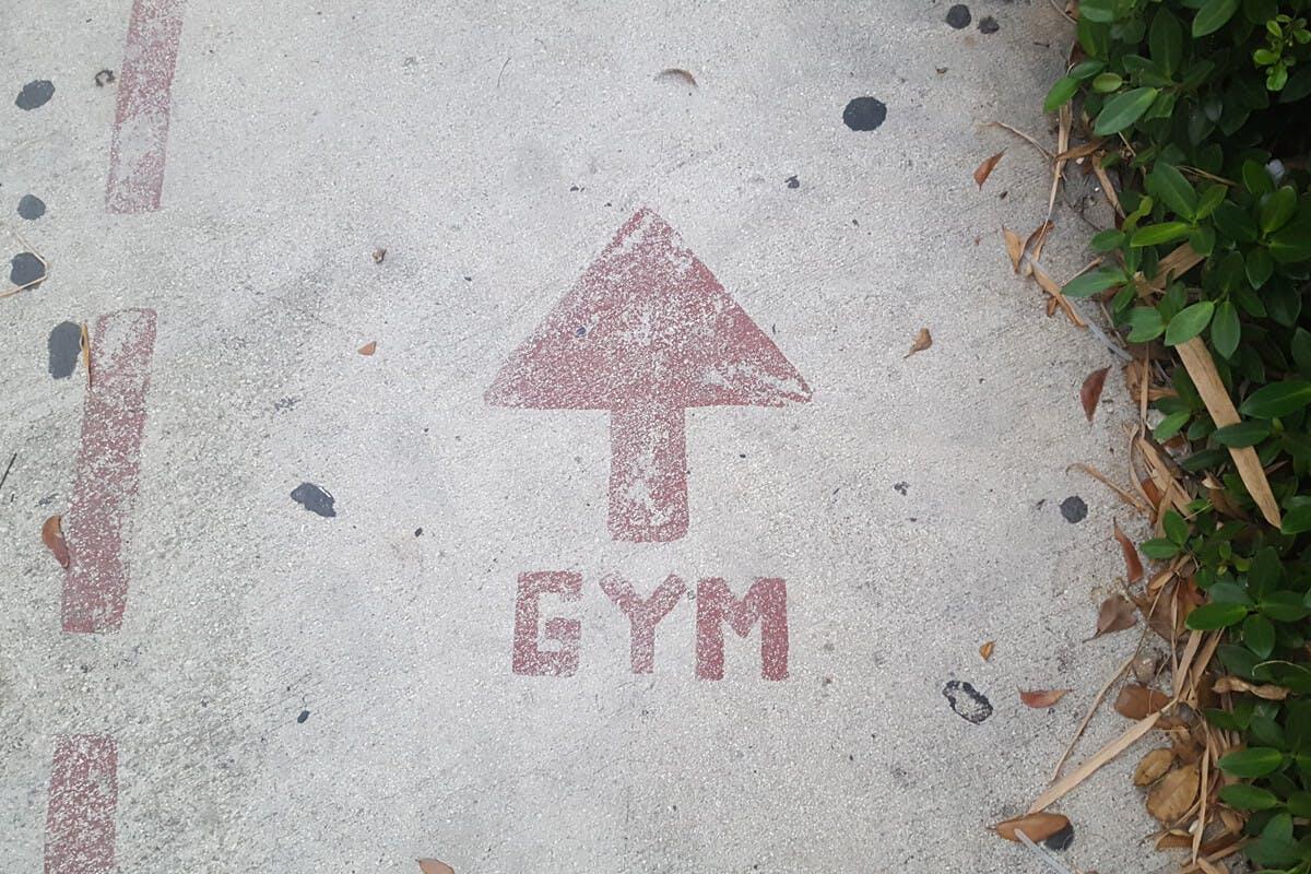 Der Weg zum Fitnessstudio