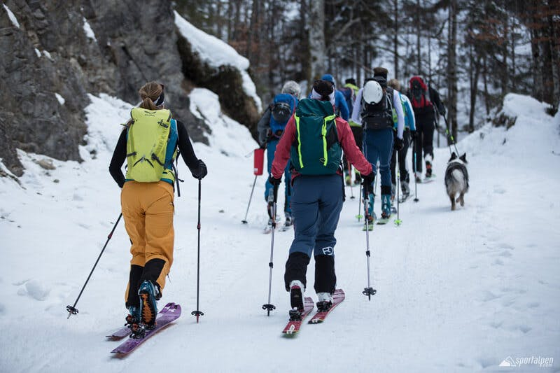 Für Anfänger sind Skitouren Camps empfehlenswert. Dort kann man von Profis lernen, wie man sich auf Touren am besten verhält.