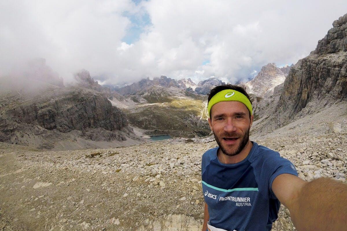 Marathonläufer Andreas Streif beim Drei Zinnen Lauf in den Südtiroler Bergen