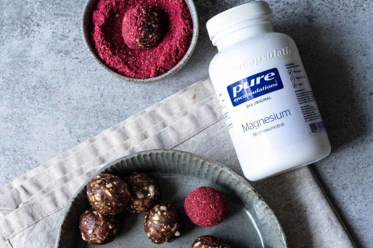Himbeer Energy Balls Rezept mit Magnesium