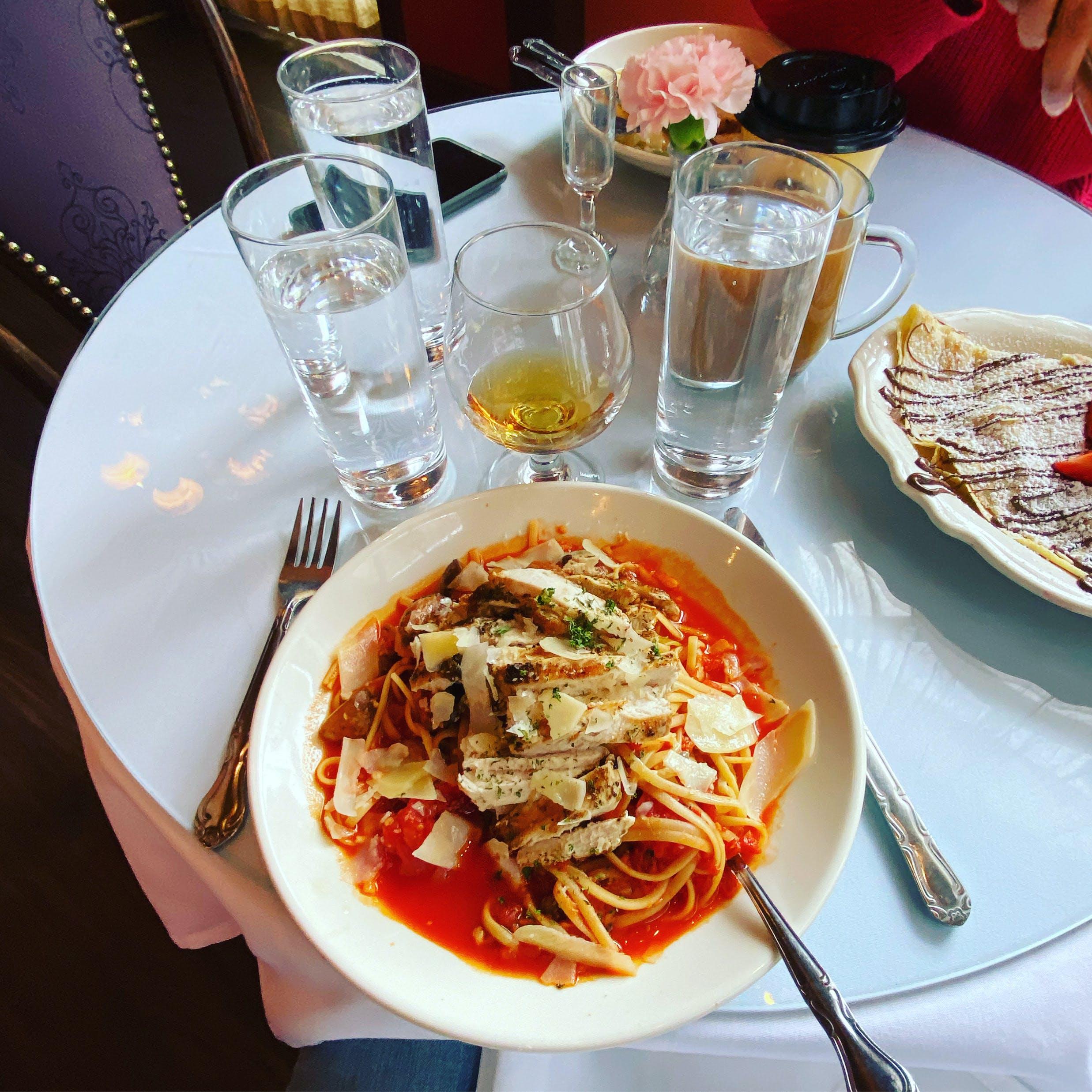 Spicy tortellini at Café Intermezzo - Avalon Alpharetta GA