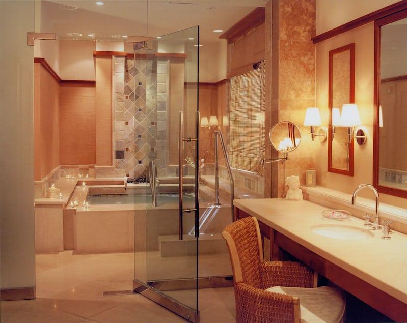 Bathroom inside Abhasa Spa at the Royal Hawaiian Hotel