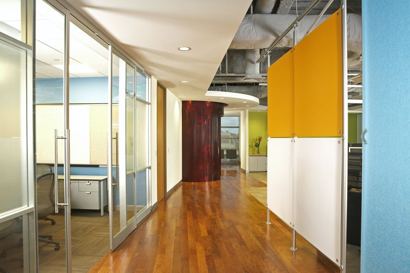 Hallway with offices.