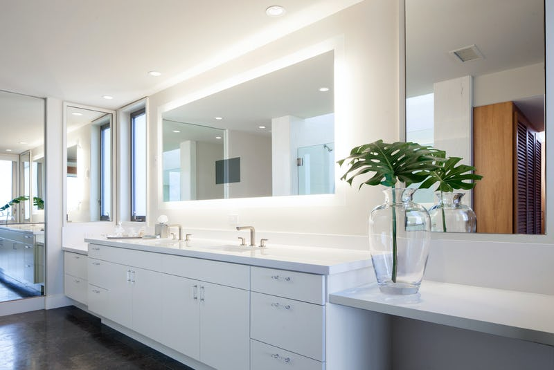 Dual sink bathroom.