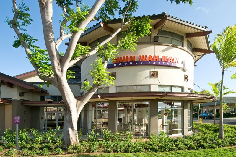 Exterior photo of Chun Wah Kam Noodle Factory at Crossroads at Kapolei Shopping Center