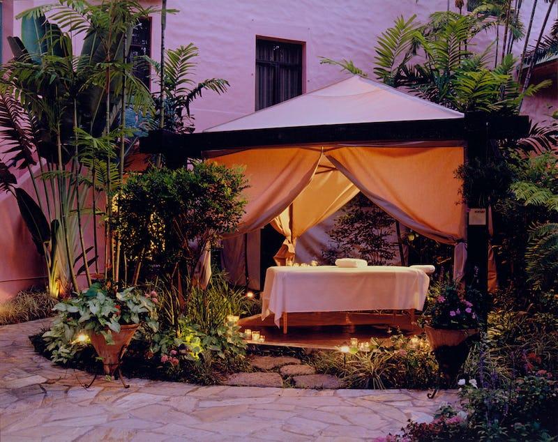 Massage table at Abhasa Spa at the Royal Hawaiian Hotel