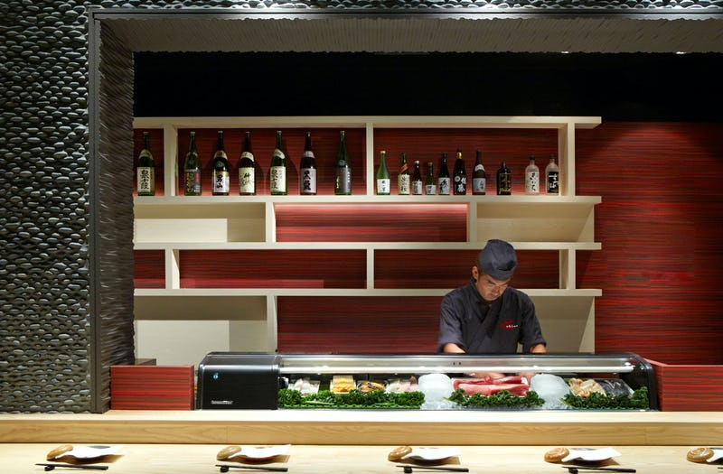 Bar with intimate seating with chef.