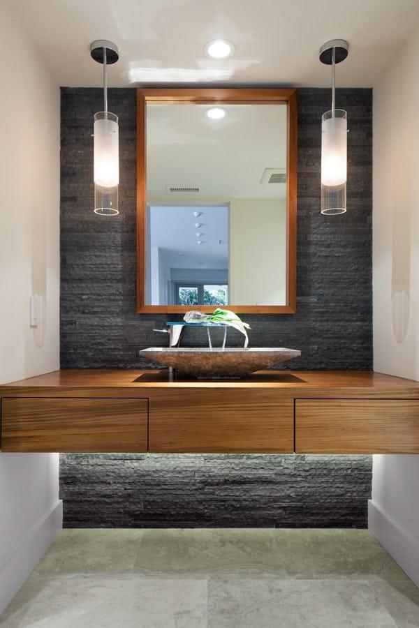 Elegant sink in bathroom.