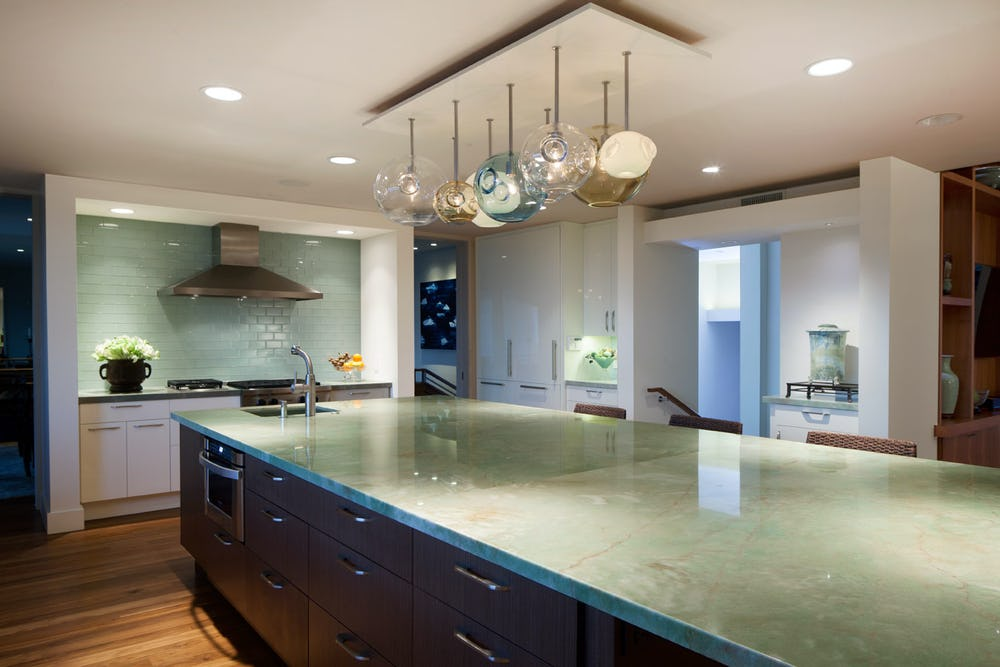 Large kitchen island.