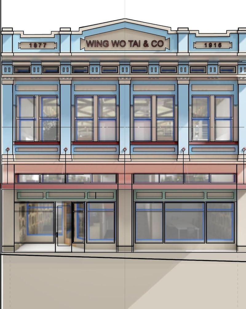 Rendering of building front