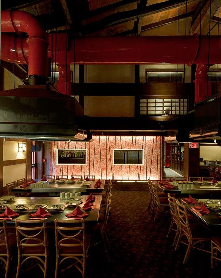 Dining tables at Benihana of Tokyo at Hilton Hawaiian Village