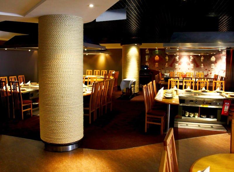 Dining room at Benihana Restaurant at Piccadilly, London