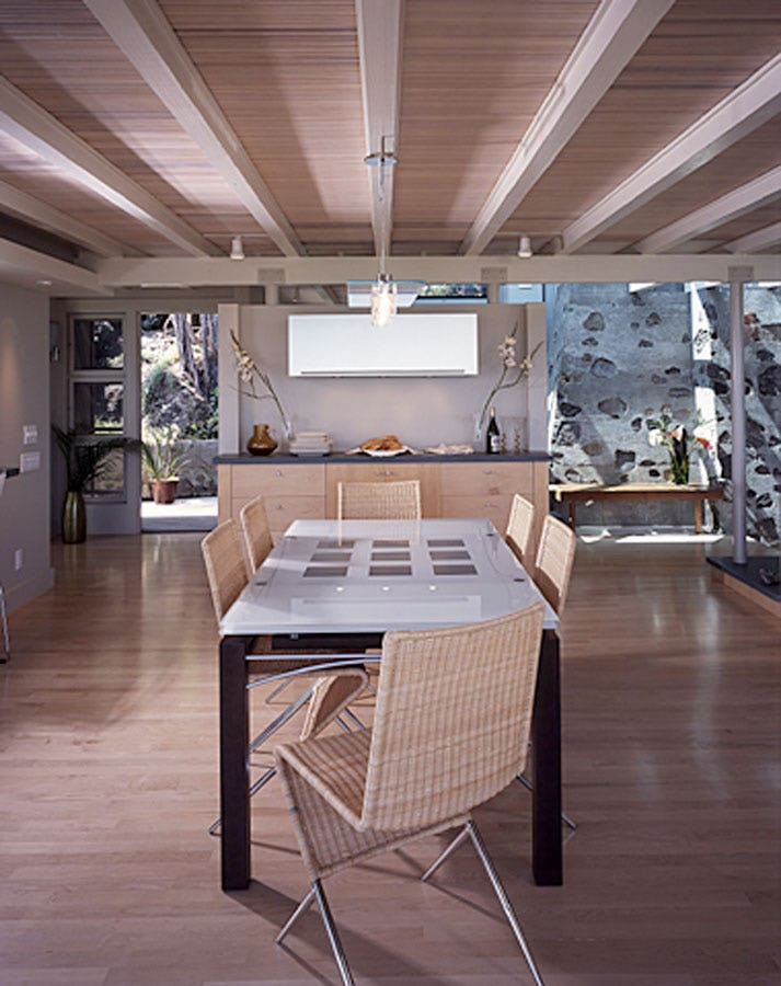 Indoor seating area.
