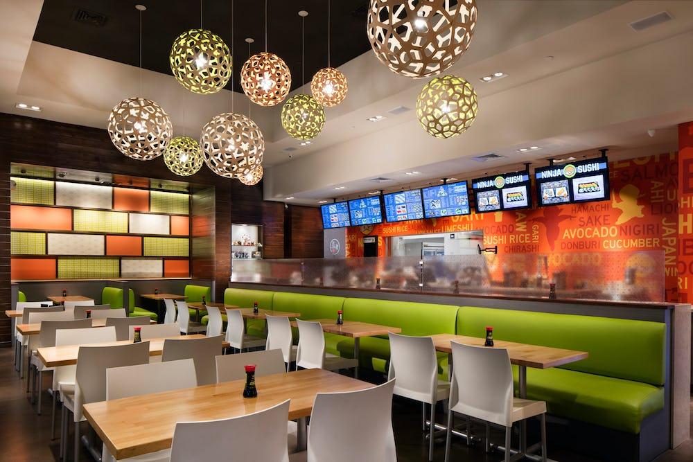Ninja sushi seating area.