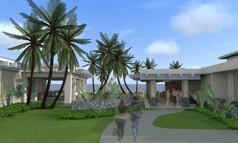 Rendering of country club concept.
