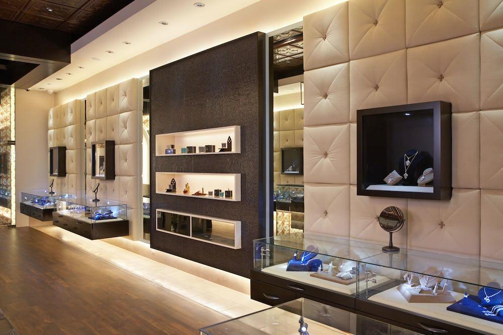 Interior of store.
