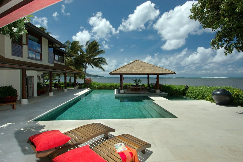 Beachside pool.